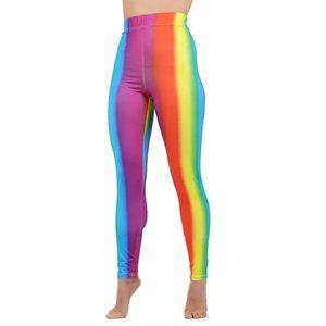 Just Me High Waist Leggings Rainbow Pride M/L